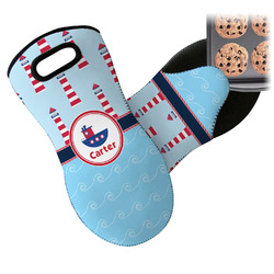 Light House & Waves Neoprene Oven Mitts w/ Name or Text
