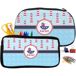 Light House & Waves Pencil / School Supplies Bag (Personalized)