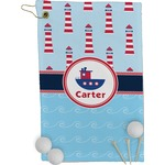 Light House & Waves Golf Towel - Full Print (Personalized)