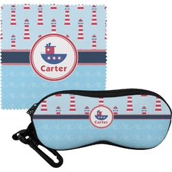 Light House & Waves Eyeglass Case & Cloth (Personalized)