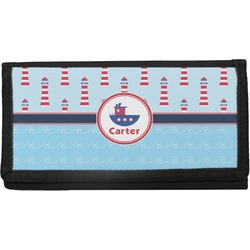 Light House & Waves Canvas Checkbook Cover (Personalized)