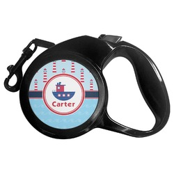 Light House & Waves Retractable Dog Leash - Multiple Sizes (Personalized)