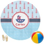 Light House & Waves Round Beach Towel (Personalized)