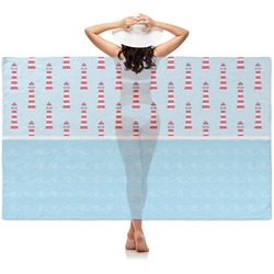 Light House & Waves Sheer Sarong (Personalized)