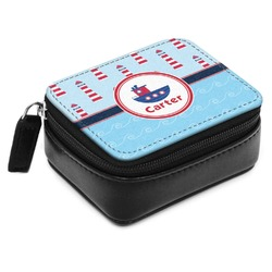 Light House & Waves Small Leatherette Travel Pill Case (Personalized)