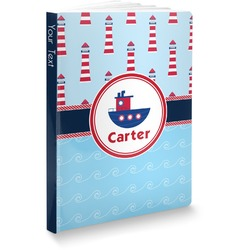 Light House & Waves Softbound Notebook (Personalized)