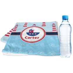 Light House & Waves Sports Towel (Personalized)