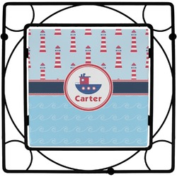 Light House & Waves Square Trivet (Personalized)