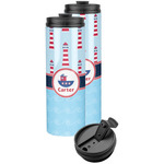 Light House & Waves Stainless Steel Skinny Tumbler (Personalized)