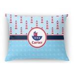 Light House & Waves Rectangular Throw Pillow (Personalized)