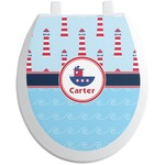 Light House & Waves Toilet Seat Decal (Personalized)