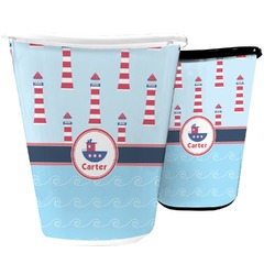 Light House & Waves Waste Basket (Personalized)