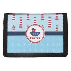 Light House & Waves Trifold Wallet (Personalized)
