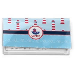 Light House & Waves Vinyl Checkbook Cover (Personalized)