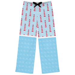 Light House & Waves Womens Pajama Pants (Personalized)
