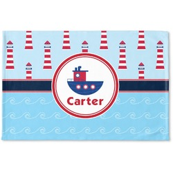Light House & Waves Woven Mat (Personalized)