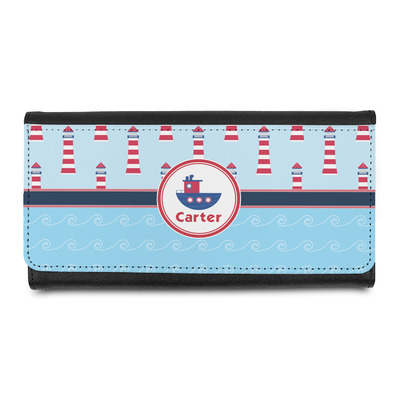 Light House & Waves Leatherette Ladies Wallet (Personalized)
