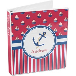 Sail Boats & Stripes 3-Ring Binder (Personalized)