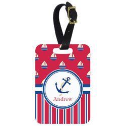 Sail Boats & Stripes Aluminum Luggage Tag (Personalized)