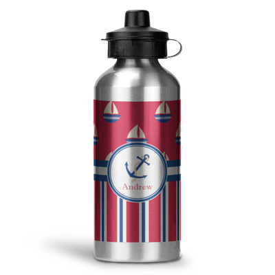 Sail Boats & Stripes Water Bottle - Aluminum - 20 oz (Personalized)