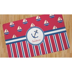 Sail Boats & Stripes Area Rug (Personalized)