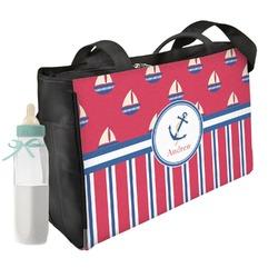 Sail Boats & Stripes Diaper Bag (Personalized)