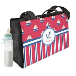Sail Boats & Stripes Diaper Bag (Personalized)