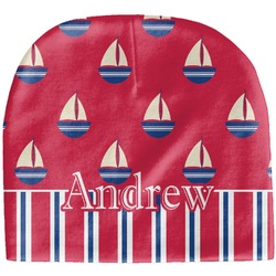 Sail Boats & Stripes Baby Hat (Beanie) (Personalized)