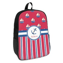 Sail Boats & Stripes Kids Backpack (Personalized)