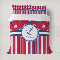 Sail Boats & Stripes Duvet Cover (Personalized)