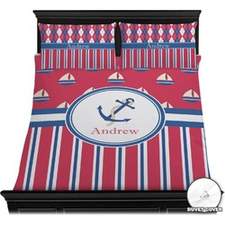 Sail Boats & Stripes Duvet Cover Set (Personalized)