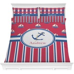 Sail Boats & Stripes Comforters (Personalized)