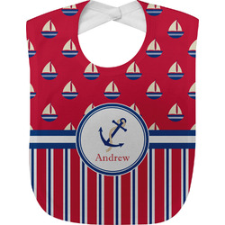 Sail Boats & Stripes Baby Bib (Personalized)