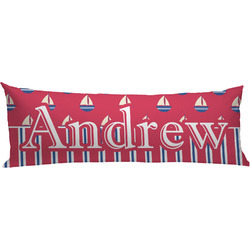 Sail Boats & Stripes Body Pillow Case (Personalized)