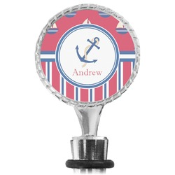 Sail Boats & Stripes Wine Bottle Stopper (Personalized)