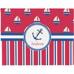 Sail Boats & Stripes Placemat (Fabric) (Personalized)