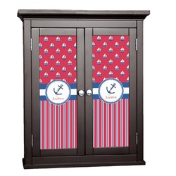 Sail Boats & Stripes Cabinet Decal - Large (Personalized)