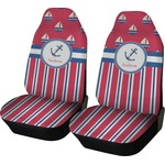 Sail Boats & Stripes Car Seat Covers (Set of Two) (Personalized)