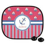 Sail Boats & Stripes Car Side Window Sun Shade (Personalized)