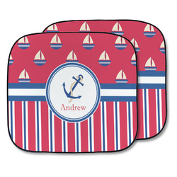 Sail Boats & Stripes Car Sun Shade - Two Piece (Personalized)