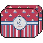 Sail Boats & Stripes Car Floor Mats (Back Seat) (Personalized)