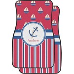 Sail Boats & Stripes Car Floor Mats (Front Seat) (Personalized)