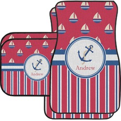 Sail Boats & Stripes Car Floor Mats (Personalized)