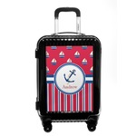 Sail Boats & Stripes Carry On Hard Shell Suitcase (Personalized)