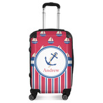 Sail Boats & Stripes Suitcase (Personalized)