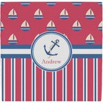 Sail Boats & Stripes Ceramic Tile Hot Pad (Personalized)
