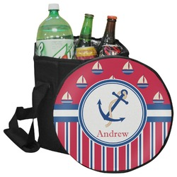 Sail Boats & Stripes Collapsible Cooler & Seat (Personalized)