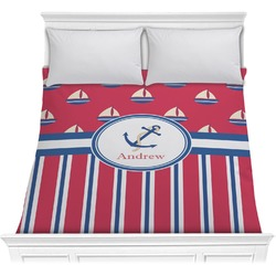 Sail Boats & Stripes Comforter (Personalized)