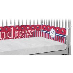 Sail Boats & Stripes Crib Bumper Pads (Personalized)