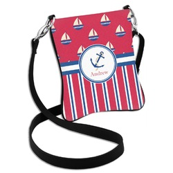Sail Boats & Stripes Cross Body Bag - 2 Sizes (Personalized)